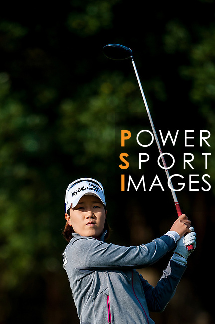 Jeong-Eun Lee of Korea in action during the Hyundai China Ladies Open 2014 at World Cup Course in Mission Hills Shenzhen on December 13 2014, in Shenzhen, China. Photo by Xaume Olleros / Power Sport Images