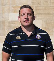 First Team Coach Toby Booth poses for a portrait at a Bath Rugby photocall. Bath Rugby Media Day on September 8, 2015 at Farleigh House in Bath, England. Photo by: Rogan Thomson for Onside Images