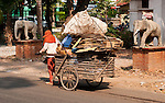 Scavenger - Recycled materials scavenger with handcart, Siem Reap, Cambodia