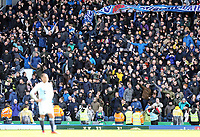 Preston North End fans celebrate at the final whistle <br /> <br /> Photographer Rich Linley/CameraSport<br /> <br /> The EFL Sky Bet Championship - Blackburn Rovers v Preston North End - Saturday 9th March 2019 - Ewood Park - Blackburn<br /> <br /> World Copyright © 2019 CameraSport. All rights reserved. 43 Linden Ave. Countesthorpe. Leicester. England. LE8 5PG - Tel: +44 (0) 116 277 4147 - admin@camerasport.com - www.camerasport.com