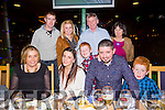 John O'Brien from Keel, Castlemaine celebrating his 29th birthday with friends and family on Friday night at the Kingdom Greyhound stadium. Pictured  l-r  Sharon O'Brien, Tanya Corrigan, John O'Brien and Dillon Ladden. Back l-r  David Ladden, Jamie Ladden, Mary Ladden, Patrick O'Brien and Ann O'Brien