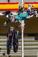 New Zealander Fmx rider Levi Sherwood during qualifying Red Bull X-Fighters 2016 at Madrid. 22,06,2016. (ALTERPHOTOS/Rodrigo Jimenez)