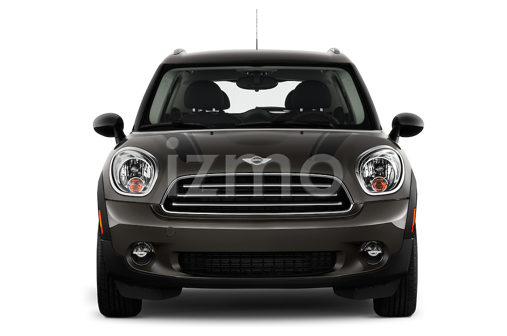 Straight front view of a 2011 - 2014 Mini Cooper Countryman SUV
