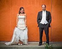 Michelle and Matt pose for portraits nearby after being married at The Attic in Sumner, WA.(Photo by Scott Eklund/Red Box Pictures)