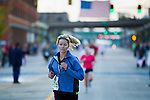 Arriving at the finish line in the Quad Cities Marathon 2010