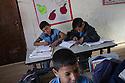 Classroom in the Khan Ahmar tire school.