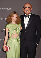 LOS ANGELES, CA - NOVEMBER 04: Artist Petra Collins (L) and Gucci CEO Marco Bizzarri attend the 2017 LACMA Art + Film Gala Honoring Mark Bradford and George Lucas presented by Gucci at LACMA on November 4, 2017 in Los Angeles, California.<br /> CAP/ROT/TM<br /> &copy;TM/ROT/Capital Pictures