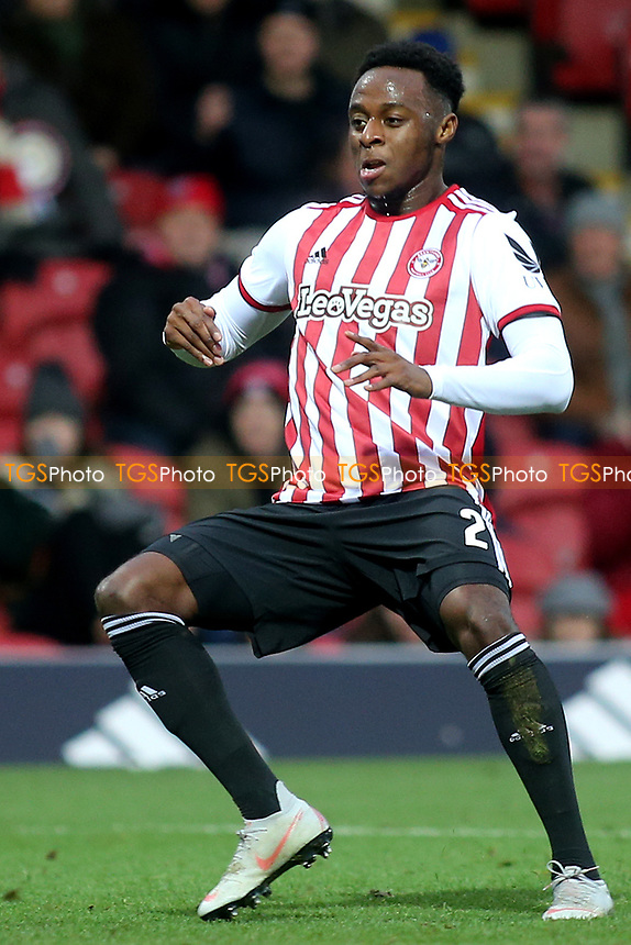 Moses Odubajo of Brentford during Brentford vs Oxford United, Emirates FA Cup Football at Griffin Park on 5th January 2019
