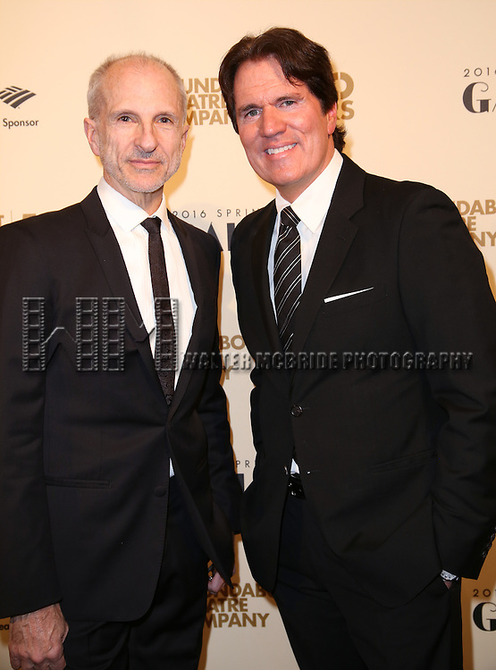 John DeLuca and Rob Marshall attend the Roundabout Theatre Company's  50th Anniversary Gala at The Waldorf-Astoria on February 29, 2016 in New York City.