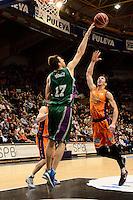 Ribas vs Vázquez<br /> Liga Endesa ACB - 2014/15<br /> J8<br /> Valencia Basket vs Unicaja