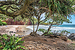 Koki Beach, located off the Hana Highway a few miles south of the town of Hana, Maui