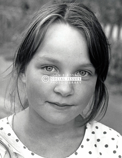 Portrait of girl, 1980s UK