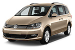 2016 Volkswagen Sharan Confortline 5 Door Minivan Angular Front stock photos of front three quarter view