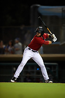 Inland Empire 66ers first baseman Jared Walsh (21) at bat during a California League game against the Lancaster JetHawks at San Manuel Stadium on May 18, 2018 in San Bernardino, California. Lancaster defeated Inland Empire 5-3. (Zachary Lucy/Four Seam Images)