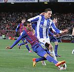 04.02.2012. Barcelona, Spain. Dani Alves in action during La Liga match between FC Barcelona against Real Sociedad at Camp Nou