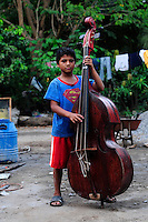 Young student of the Music for Hope project, based in the community of La Canoa, El Salvador.