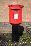 Red Royal Mail pillar box