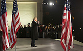 "President-elect of The United States Donald J. Trump makes remarks at the ""Make America Great Again Welcome Celebration concert at the Lincoln Memorial in Washington, DC, January 19, 2017.<br /> Credit: Chris Kleponis / Pool via CNP"