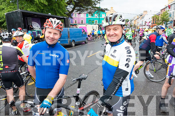 Mark Ryall and Pat Sullivan, Tralee, who took part in the Ring of Beara Cycle in Kenmare on Saturday morning last.