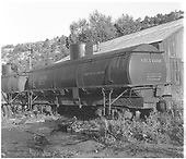 3/4 view of UTLX 13236 tank car at Dolores, CO.<br /> D&amp;RGW  Dolores, CO  Taken by Polkinghorn, R. S. - 1946
