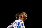 CD Leganes' Youssef En-Nesyri celebrate goal during La Liga match between CD Leganes and Getafe CF at Butarque Stadium in Leganes, Spain. December 07, 2018. (ALTERPHOTOS/A. Perez Meca)