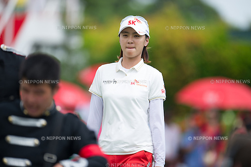 Na Yeon Choi (KOR),.MARCH 3, 2013 - Golf :.Na Yeon Choi of South Korea during the final round of the the HSBC Women's Champions golf tournament at Sentosa Golf Club in Singapore. (Photo by Haruhiko Otsuka/AFLO)