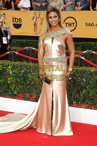 25 January 2015 - Los Angeles, California - Laverne Cox. 21st Annual Screen Actors Guild Awards - Arrivals held at The Shrine Auditorium. <br /> CAP/ADM/BP<br /> &copy;BP/ADM/Capital Pictures