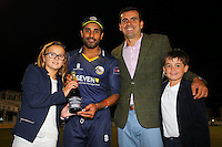 Ravi Bopara of Essex with the man of the match award during Essex Eagles vs Glamorgan, NatWest T20 Blast Cricket at the Essex County Ground on 29th July 2016