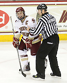 Joe Whitney (BC - 15), Bob Bernard - The Boston College Eagles defeated the visiting Boston University Terriers 5-2 on Saturday, December 4, 2010, at Conte Forum in Chestnut Hill, Massachusetts.