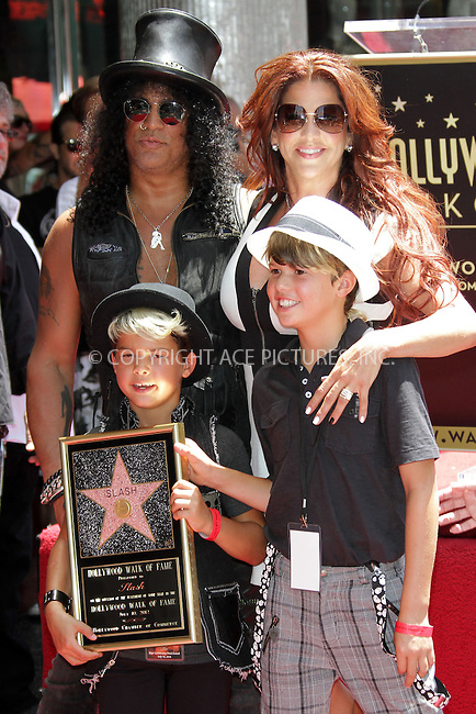 WWW.ACEPIXS.COM . . . . .  ..... . . . . US SALES ONLY . . . . .....July 10 2012, LA....Musician Slash with his family Perla Ferrar, London and Cash celebrate his star on the Hollywood Walk of Fame on July 10, 2012 in Hollywood, California.....Please byline: FAMOUS-ACE PICTURES... . . . .  ....Ace Pictures, Inc:  ..Tel: (212) 243-8787..e-mail: info@acepixs.com..web: http://www.acepixs.com