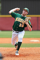 North Dakota State Bison pitcher Anthony Kliniske #39 during a game against the Pennsylvania Quakers at Henley Field on March 11, 2012 in Lakeland, Florida.  North Dakota State defeated Pennsylvania 15-3.  (Mike Janes/Four Seam Images)