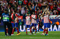 Atletico Madrid´s players celebrating