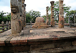 The Lotus Mandapa building, The Quadrangle, UNESCO World Heritage Site, the ancient city of Polonnaruwa, Sri Lanka, Asia