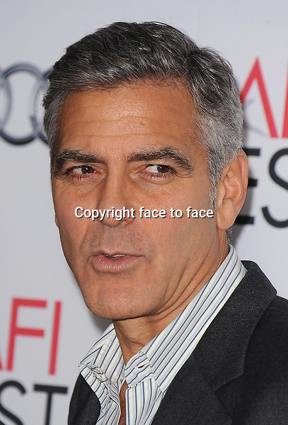 HOLLYWOOD, CA - NOVEMBER 8: George Clooney arrives at the 2013 AFI Fest - &quot;August: Osage County&quot; gala screening at TCL Chinese Theatre on November 8, 2013 in Hollywood, California. <br /> Credit: MediaPunch/face to face<br /> - Germany, Austria, Switzerland, Eastern Europe, Australia, UK, USA, Taiwan, Singapore, China, Malaysia, Thailand, Sweden, Estonia, Latvia and Lithuania rights only -