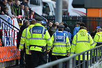 Stockport County fans clash with stewards during Barnet vs Stockport County, Emirates FA Cup Football at the Hive Stadium on 2nd December 2018