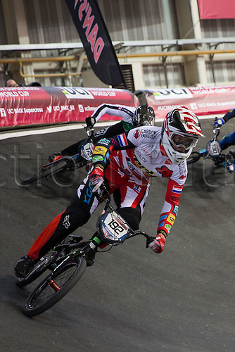 10.04.2016. National Cycling Centre, Manchester, England. UCI BMX Supercross World Cup Finals. Dave Van Der Burg.