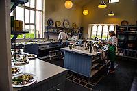 Ireland - Chefs in a kitchen at Ballymaloe Cookery School