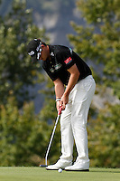 Gary Boyd (ENG) on the 7th during the 3rd day of the Omega European Masters, Crans-Sur-Sierre, Crans Montana, Switzerland..Picture: Golffile/Fran Caffrey..