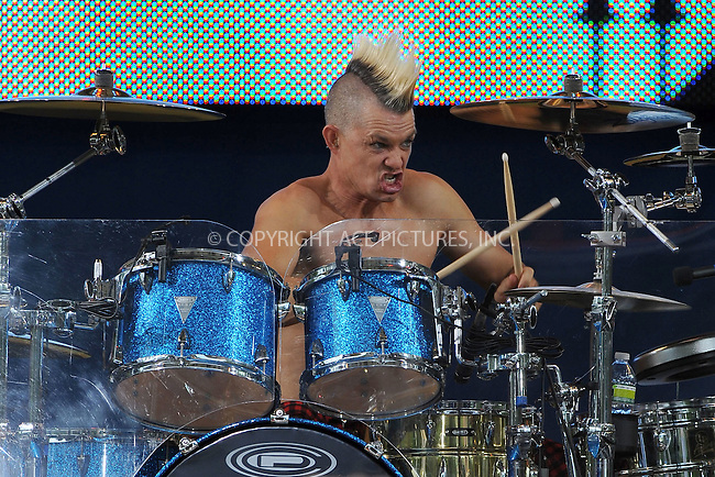 WWW.ACEPIXS.COM . . . . . .July 27, 2012...New York City....Adrian Young of No Doubt performs on GMA at Rumsey Playfield in Central Park on July 27, 2012 in New York City. ....Please byline: KRISTIN CALLAHAN - WWW.ACEPIXS.COM.. . . . . . ..Ace Pictures, Inc: ..tel: (212) 243 8787 or (646) 769 0430..e-mail: info@acepixs.com..web: http://www.acepixs.com .