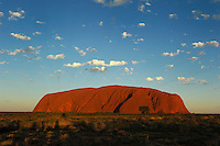 Ayers Rock at sunset, Kata Tjuta National Park, Northern Territory, Australia
