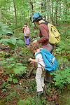 Kirsten,Sophie, and Ellie Works, hiking Burnt Jacket trail.
