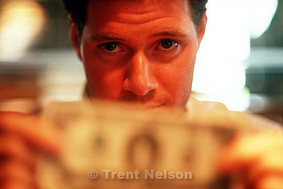 Paul Doerr with money.<br />