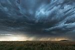Storm clouds gather in rural Saskatchewan.
