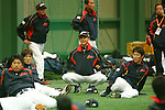 (L to R) .Kazuo Matsui (JPN), . Kazuyoshi Tatsunami (JPN), .Hirokazu Ibata (JPN), .MARCH 1, 2013 - WBC : .2013 World Baseball Classic .Japan team training .in Fukuoka, Japan. .(Photo by YUTAKA/AFLO SPORT)