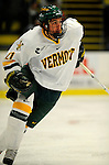 30 December 2007: University of Vermont Catamounts' forward Jack Downing, a Freshman from New Canaan, CT, in action against the Quinnipiac University Bobcats at Gutterson Fieldhouse in Burlington, Vermont. The Bobcats defeated the Catamounts 4-1 to win the Sheraton/TD Banknorth Catamount Cup Tournament...Mandatory Photo Credit: Ed Wolfstein Photo