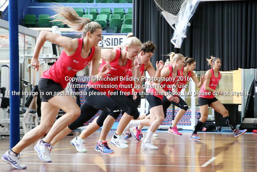 02.09.2016 Silver Ferns during training in Melbourne Australia. Mandatory Photo Credit ©Michael Bradley.