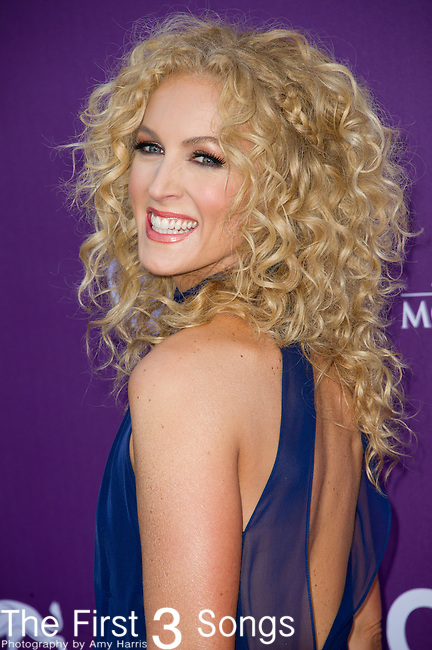 Kimberly Schlapman of Little Big Town attends the 48th Annual Academy of Country Music Awards in Las Vegas, Nevada on April 7, 2012.