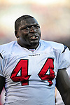 1 November 2009: Houston Texans' fullback Vonta Leach looks up at the scoreboard from the bench during a game against the Buffalo Bills at Ralph Wilson Stadium in Orchard Park, New York, USA. The Texans defeated the Bills 31-10. Mandatory Credit: Ed Wolfstein Photo