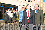 TRALEE OUR TOWN: A showcase of voluntary endeavours and supports for communities will be held in the Brandon Hotel on April 24th and 25th. Front l-r were: Seamus O'Hara (North East Kerry Development), Mayor of Tralee Cllr. Ted Fitzgerald and John Griffin. Back l-r were: Sheila Cronin (NEKD),Shahidah Janjha, James Clifford, Neil Kelders, Johnny Wall and Michael 'Fox' O'Connor