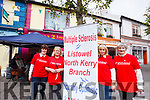 Mairead Broderick, Phil O'Dowd, Bride O'Rourke and Nora Buckley out collecting in Listowel for the Multiple Sclerosis North Kerry Branch recently.